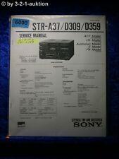 Sony Service Manual STR A37 /D309 /D359 FM/AM Receiver (#6000)