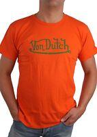 Von Dutch Herren T-Shirt Shirt Hole Fine Tee Orange Gr. M - XL