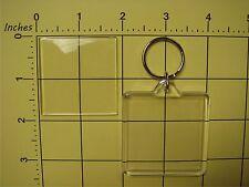 "10 X Square 1¾""X1¾"" Clear Blank Transparent Photo/Art/Paper Insert DIY Keychain"