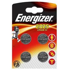 4 x Energizer Lithium CR2025 batteries 3V Coin cell DL2025 EXP:2026 Pack of 4