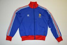 Adidas track jacket FRANCE L large Men firebird blue red F.F.F cup soccer