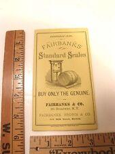 ANTIQUE 1870'S FAIRBANKS SCALE ILLUST BROCHURE RAILROAD COAL ADVERTISING COUNTER