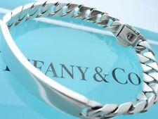 """Tiffany & Co. Sterling Silver 50.5 Gram 8 1/2"""" Men's ID Bracelet"""