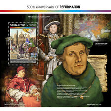 Sierra Leone 2017 MNH Reformation 500th Anniv Martin Luther 1v S/S Stamps