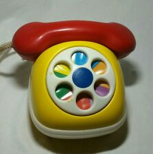 Vintage ambi Toys Plastic Toy Dial Phone With Squeaker Holland