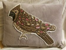Pottery Barn Jeweled Beaded Cardinal Applique Pillow ~12 X 16 ~ Christmas ~