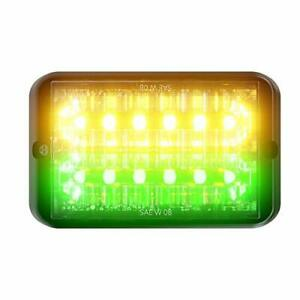 Abrams SAE Class-1 Bold (Amber/Green) 36W - 12 LED Emergency Vehicle Truck LE...