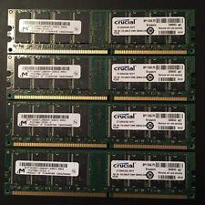 4 Crucial 1GB PC-2700 DDR-333