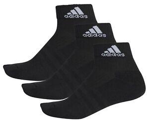 3 PACK - Adidas Ankle Sports Socks - Mens Womens Ladies - Black