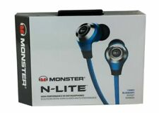 Monster N-LITE In Ear Headphones High Performance Audio Candy Blueberry Blue NEW