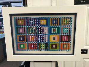 "Yaacov Agam "" Memories "" Agamograph Signed & Numbered Limited Edition Framed"