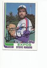 STEVE ROGERS Autographed Signed 1982 Topps card Montreal Expos COA