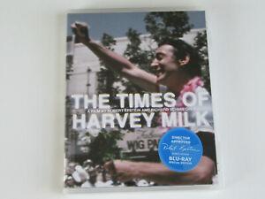 THE TIMES OF HARVEY MILK (Blu-ray, Criterion) Robert Epstein SIGNATURE STICKER!!