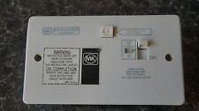 MK SENTRY SINGLE RCD PROTECTED SOCKET K6300 WHI 30MA ACTIVE WHITE