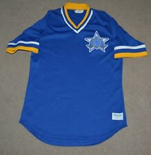 Vtg Seattle Mariners Majestic Baseball Jersey 1980-86 Style Medium Blank