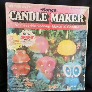 1973 Mod era RONCO *CANDLE MAKER* Set-Kit 90% complete w BOX - As Seen on TV!