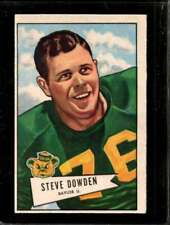1952 BOWMAN LARGE #40 STEVE DOWDEN EX PACKERS  *J0022