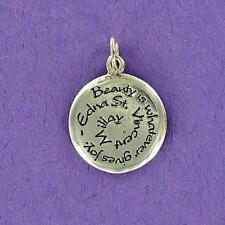 """Sterling Silver """"BEAUTY is .....""""  CHARM"""