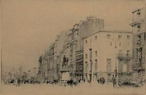WILLIAM WALCOT (1874-1943) Signed Etching PORTLAND PLACE LONDON c1935