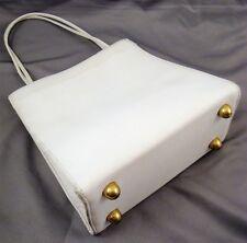 Vintage 1960's Classic COACH BONNIE CASHIN White Leather Mini Tote Bag Purse