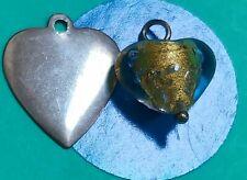 Charm O36 Two Hearts Sterling Silver Vintage Bracelet