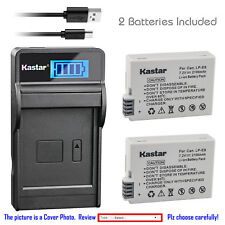 Kastar Battery LCD Charger for Canon LP-E8 LC-E8 & Canon EOS Rebel T3i Camera