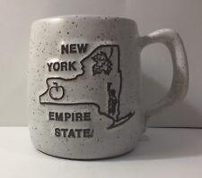 New York State Ceramic Coffee Tea Mug Lady Liberty Maple Leaf Apple Empire State