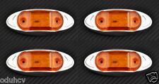 4X 6 LED 12V COLOR AMBRA LATO CROMO LUCI DI INGOMBRO PER AUTO OPEL VW FORD