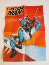ACTION MAN AFFICHE pub 1996 HASBRO 2 faces G.I.JOE sky diver parachute oxygène