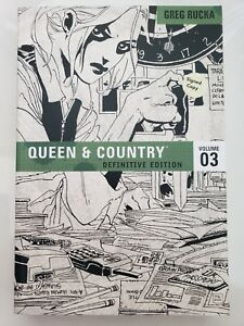 QUEEN & COUNTRY DEFINITIVE EDITION Vol 3 TPB BOOK SIGNED by GREG RUCKA! NEW