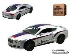 2012 Bentley Continental GT Speed KINSMART Diecast 1:38 Silver FREE SHIPPING