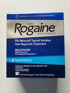 Rogaine Men's Extra Strength Unscented Topical solution 3 Month Supply exp 2022+