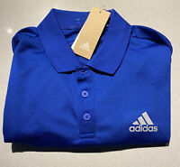 Mens Size Medium Adidas Polo Shirt Blue Short Sleeve GK7015