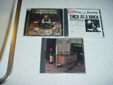 3 CD JETHRO TULL THICK AS A BRICK SONGS FROM THE WOOD CLASSIC CASE IAN ANDERSON