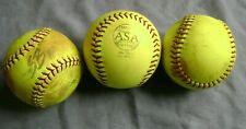 "Lot (3) Used 12"" Fastpitch Softballs: Pitching/Batting/Machine/ Shag Practice"