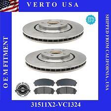 Set Of 2 Disc Brake Rotors & Ceramic Pads, Front  fit Lexus & Toyota