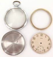 VINTAGE ORIS 16S POCKET WATCH CASE & DIAL.