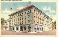 Street View Motel Washington Chambersburg PA Linen Grenoble Hotels Inc Postcard