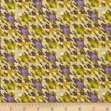 HOUNDSTOOTH HALLOWEEN BY RILEY BLAKE COTTON FABRIC FH-2824 BY YARD CLOTHING