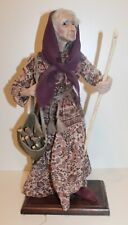 "1997 OOAK TERRY RICHARDS  18 1/2"" Doll Pesant Lady Gathering Wood"