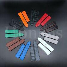 25 x 19 MM Rubber Alligator Gummy Leather Watch Strap Band For Hublot Big Bang H