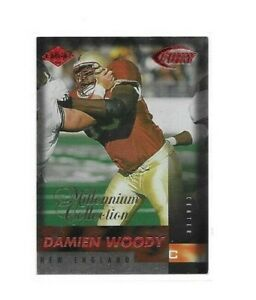 NEW ENGLAND PATRIOTS DAMIEN WOODY 1999 MILLENIUM COLLECTION PARALLEL FB CARD 199