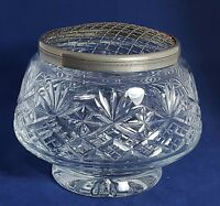 Beautiful Large Heavy Cut Glass / Crystal Rose Bowl by Thomas Webb