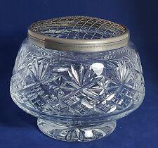 Beautiful Large Heavy Cut Glass / Crystal Rose Bowl by Thomas Webb