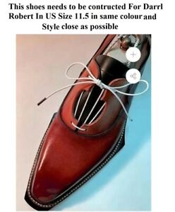 Custom Handmade Men's  leather formal lace up leather shoes