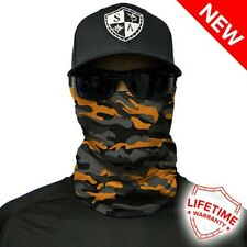 Salt Armour SA Face Shield Orange & Grey Military Camo.. Buy 2 Get 1 Free!!