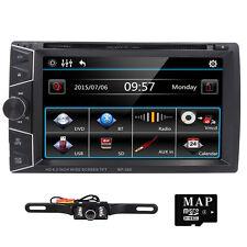 GPS Double 2 Din 6.2'' InDash Car DVD Player Radio Stereo Bluetooth iPod+Camera