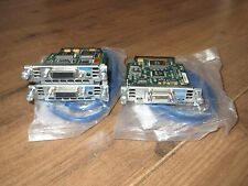 Cisco WIC-2T+ 2xWIC-1T Card & 2xCAB-SS-6026 Crossover Lead DTE/DCE CCNA CCNP Lab