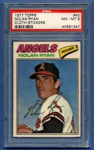 NOLAN RYAN 1977 TOPPS CLOTH STICKERS #40 PSA 8 NMMT HOF GRADED CALIFORNIA ANGELS