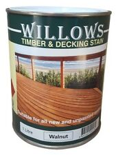 Willows Timber Decking Furniture Window Beams Stain  OiL Based 1L Walnut